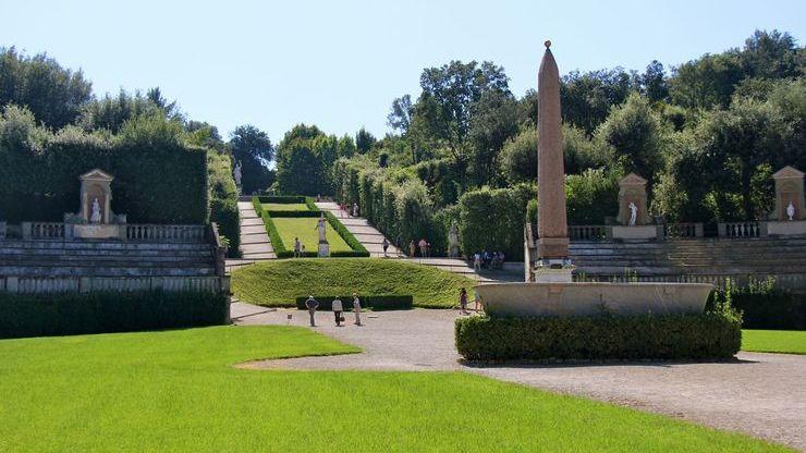 Сады Боболи позади Палаццо Питти