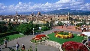 Площадь Микеланджело в центре Флоренции