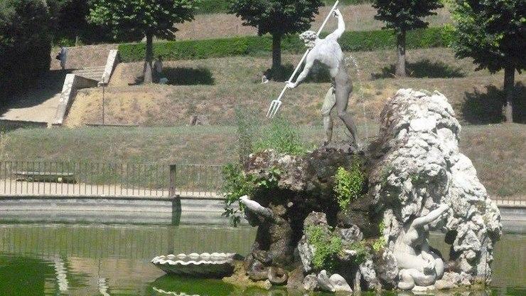 Фонтан Нептуна в садах Боболи