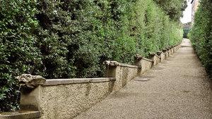 Лестница «Фонтан маленьких уродливых лиц» в садах Боболи