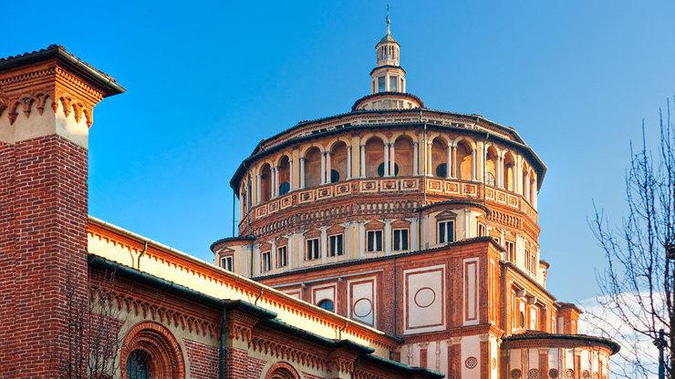 Внешний вид церкви Санта-Мария-делле-Грацие