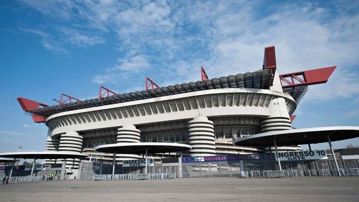 Вид на знаменитый стадион Сан-Сиро