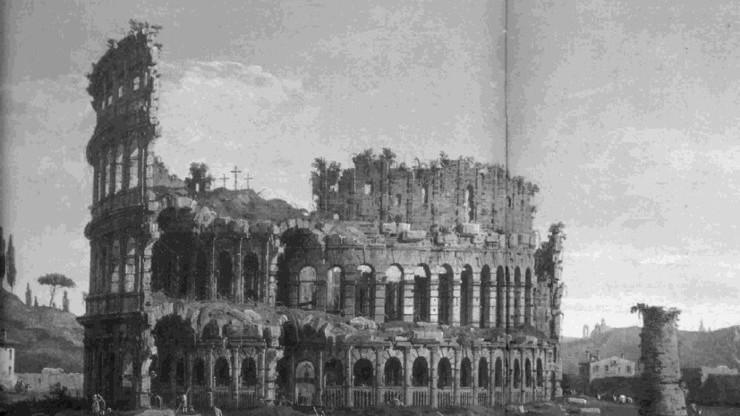 Причинами разрушения постройки были нашествия варваров и землетрясения