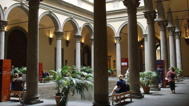 Внутренний дворик палаццо Строцци