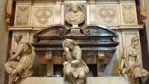 Могила Микеланджело в пантеоне базилики Санта-Кроче