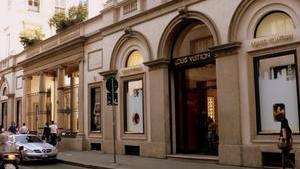 Улица в квартале моды в Милане
