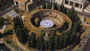 Мавзолей Августа в Риме вид сверху