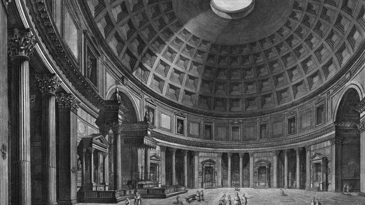 Храм, посвященный римским богам, сохранился в прекрасном виде