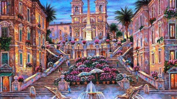 Римская достопримечательность на картине