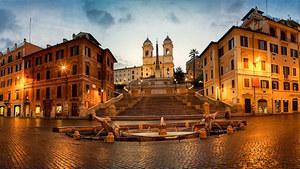 Испанская лестница в Риме в стиле барокко