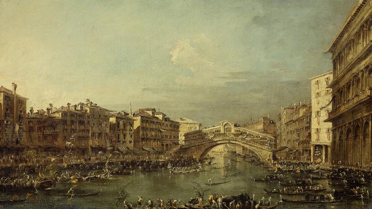 Изображение постройки на картине художника