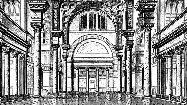 Главный зал бани императора
