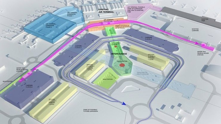 Схема расположения удобств внутри здания аэровокзала