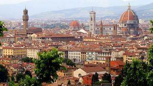 Вид на Флоренцию - один из самых знаменитых городов Италии